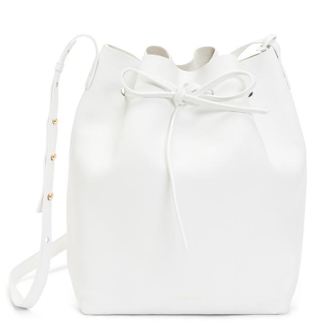 Mansur Gavriel Tumble Bucket Bag in White