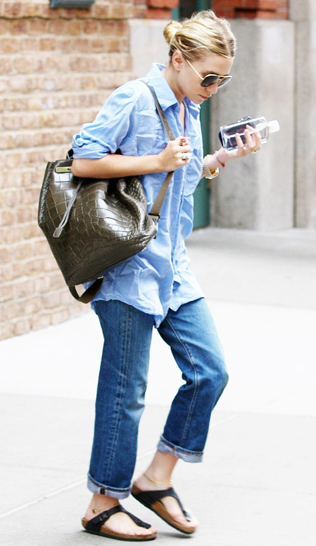3. It's okay to wear jeans with a $55,000 python backpack.