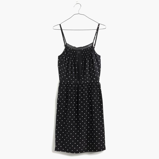 Madewell Silk Lace Inset Cami Dress