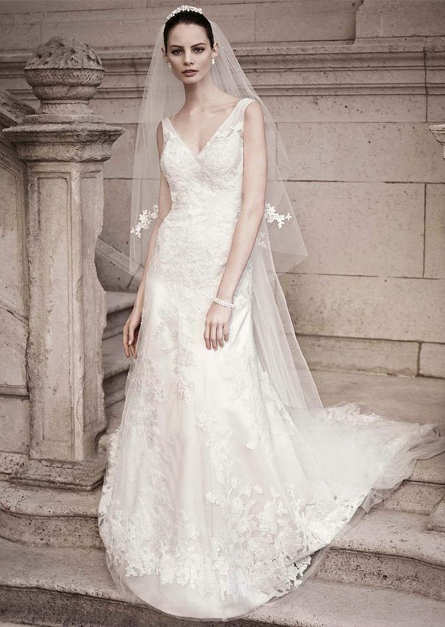 David's Bridal A-Line Gown