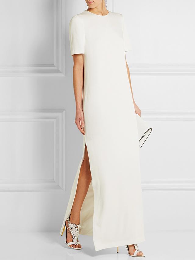 Alexander McQueen Satin-Crepe Gown