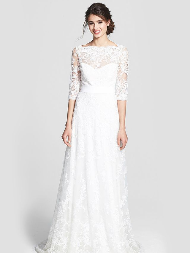 Marchesa Corded Lace Dress