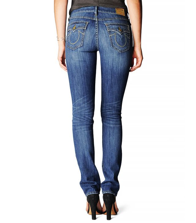 True Religion Cora Mid-Rise Straight Jeans