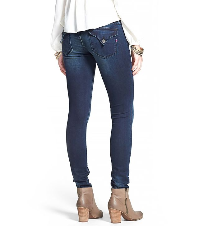 Vigoss New York Flap Pocket Skinny Jeans