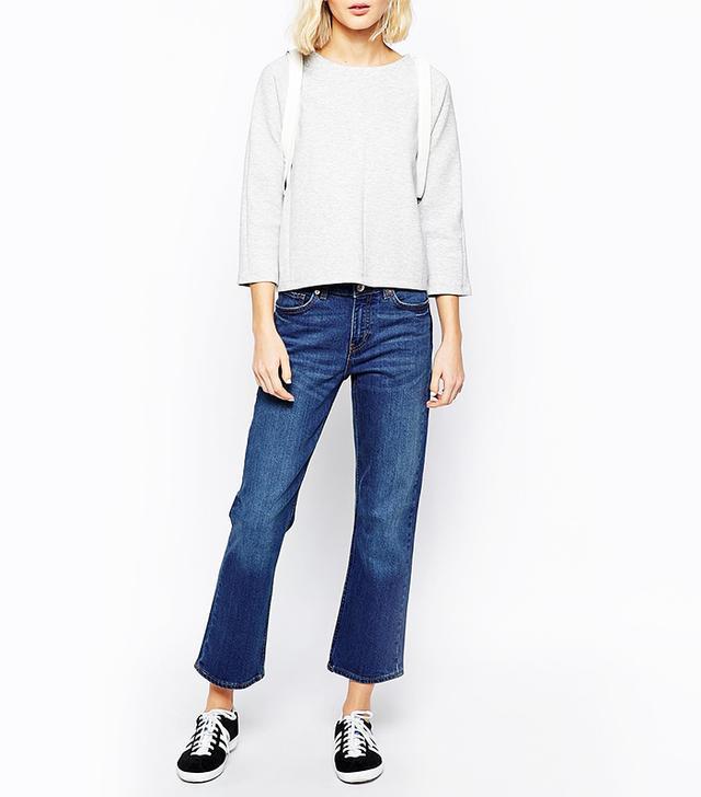 ASOS Weekday Cut High-Waist Bootcut Jeans