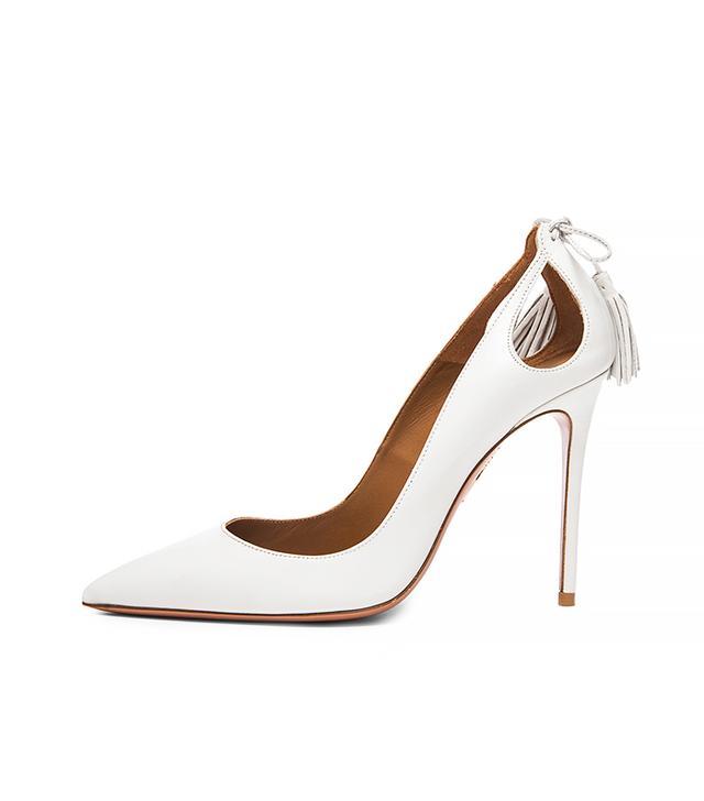 Aquazzura Forever Marilyn Leather Heels