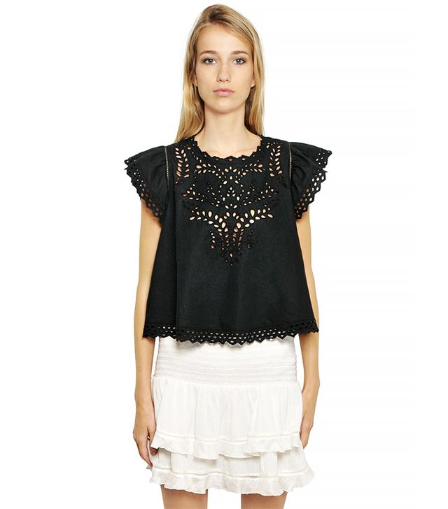 Etoile Isabel Marant Embroidered Cotton Top