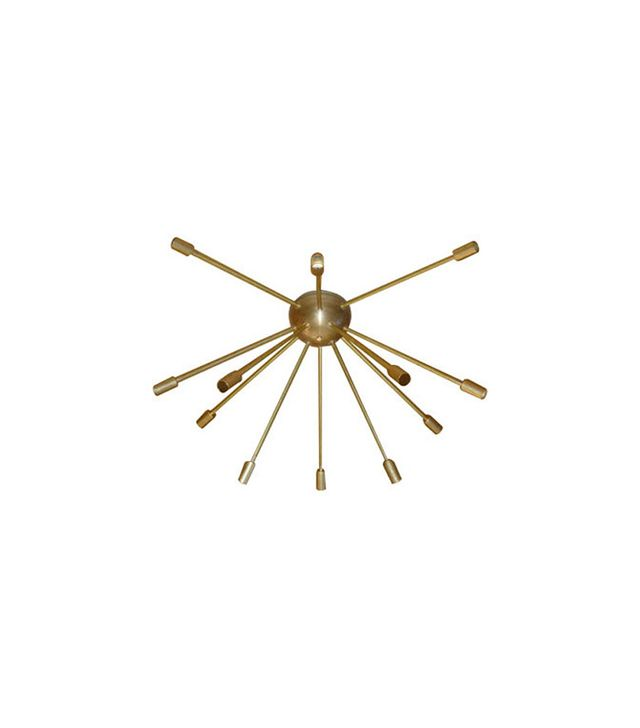 Dot&Bo Raw Brass Sputnik Chandelier