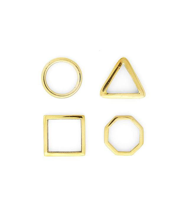 West Elm Gold Napkin Ring Set