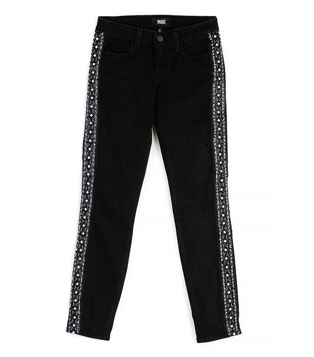 Paige Verdugo Ankle Yuna Tux Embellished Jeans