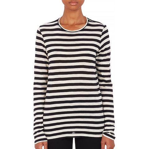 Stripe Slub-Knit T-shirt