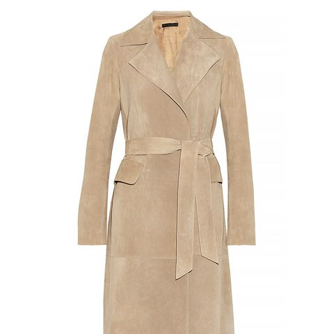 Trikon Suede Wrap Coat