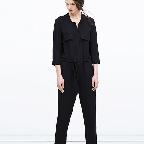 Jumpsuit with Long Lapels