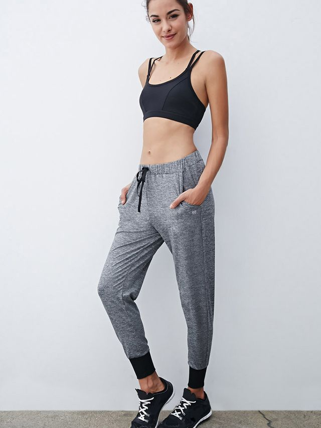Forever 21 Heathered Drawstring Joggers