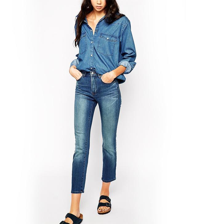 Dr. Denim Florence High Waist Straight Leg Jeans
