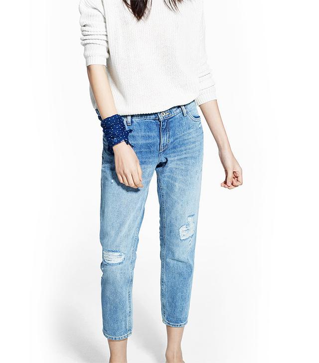 MANGO Cropped Slim-Fit Nancy Jeans