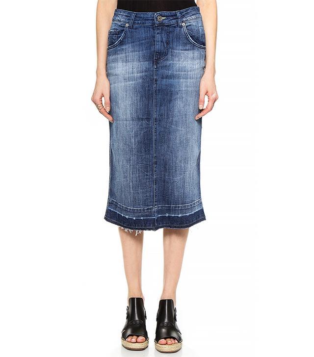 Otto d'ame Summer Denim Skirt