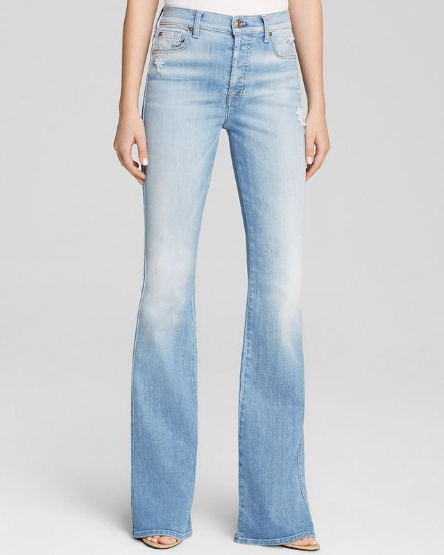 7 For All Mankind Bloomingdale's Exclusive High Waist Vintage Bootcut Jeans