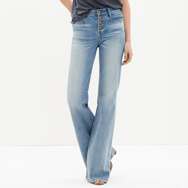 Madewell Flea Market Flares Button-Front Edition Jeans