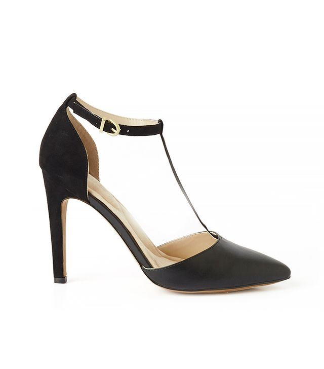 Eva Mendes Collection Valencia T-Strap Pump in Black