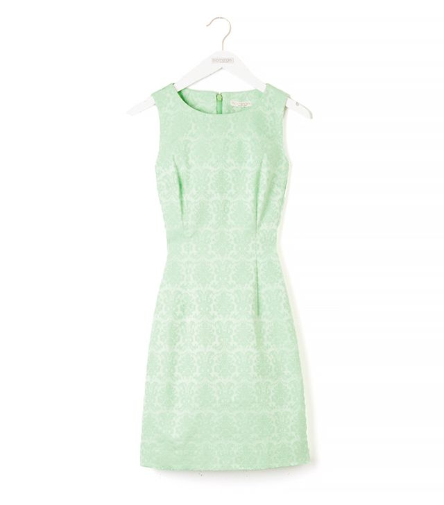 Eva Mendes Collection Maria Jacquard Dress in Cortlandt Green