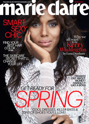 Kerry Washington Stuns On The Cover Of Marie Claire Magazine