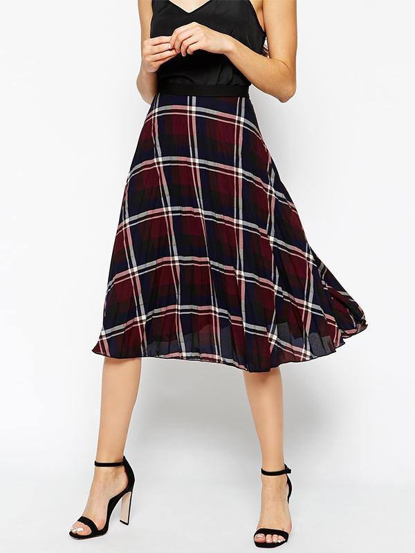 ASOS Liquorish Pleated Midi Skirt