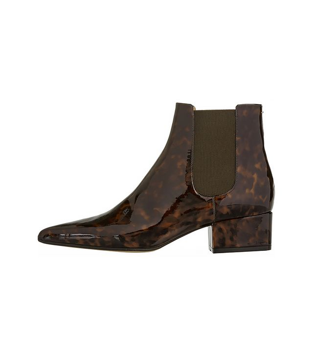 Maison Margiela Tortoiseshell Patent-Leather Chelsea Boots