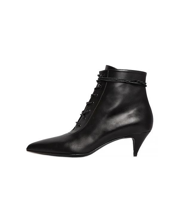 Saint Laurent Leather Lace-Up Boots