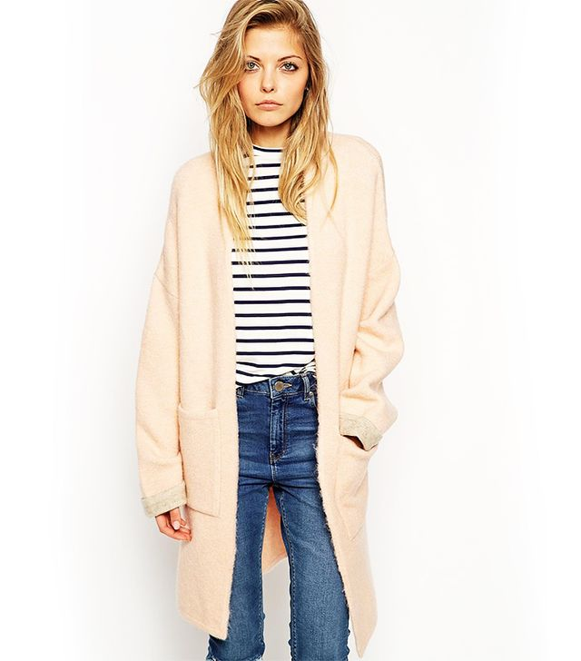 ASOS Longline Cardigan With Patch Pockets