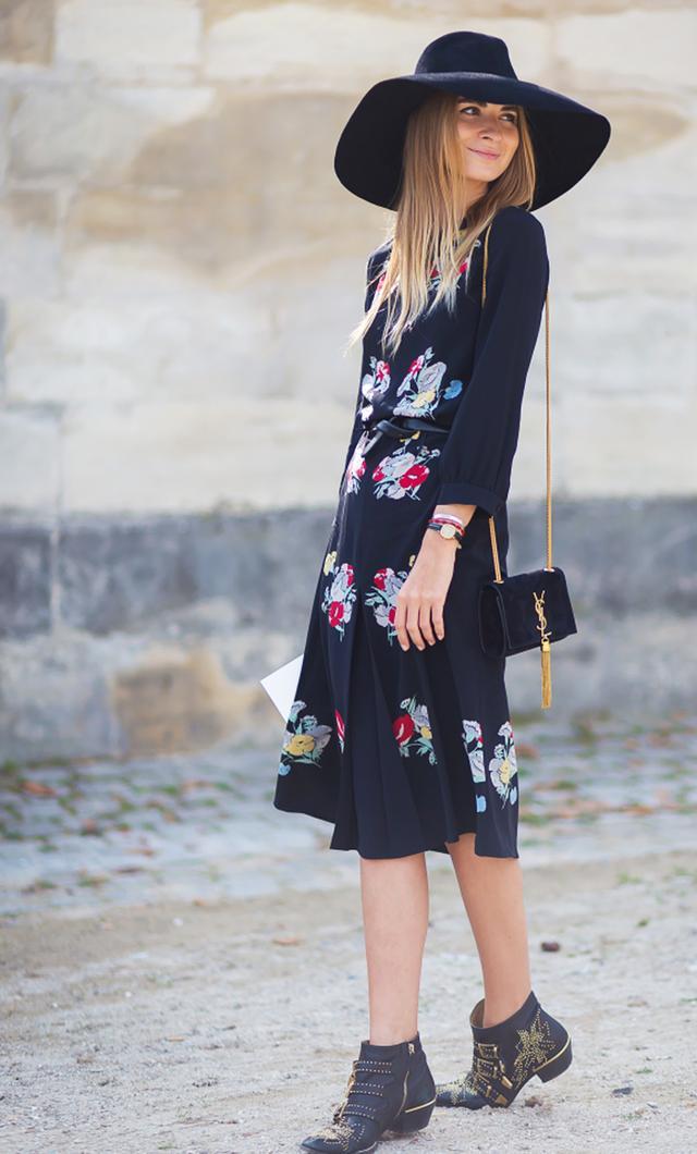 Long sleeve dress: