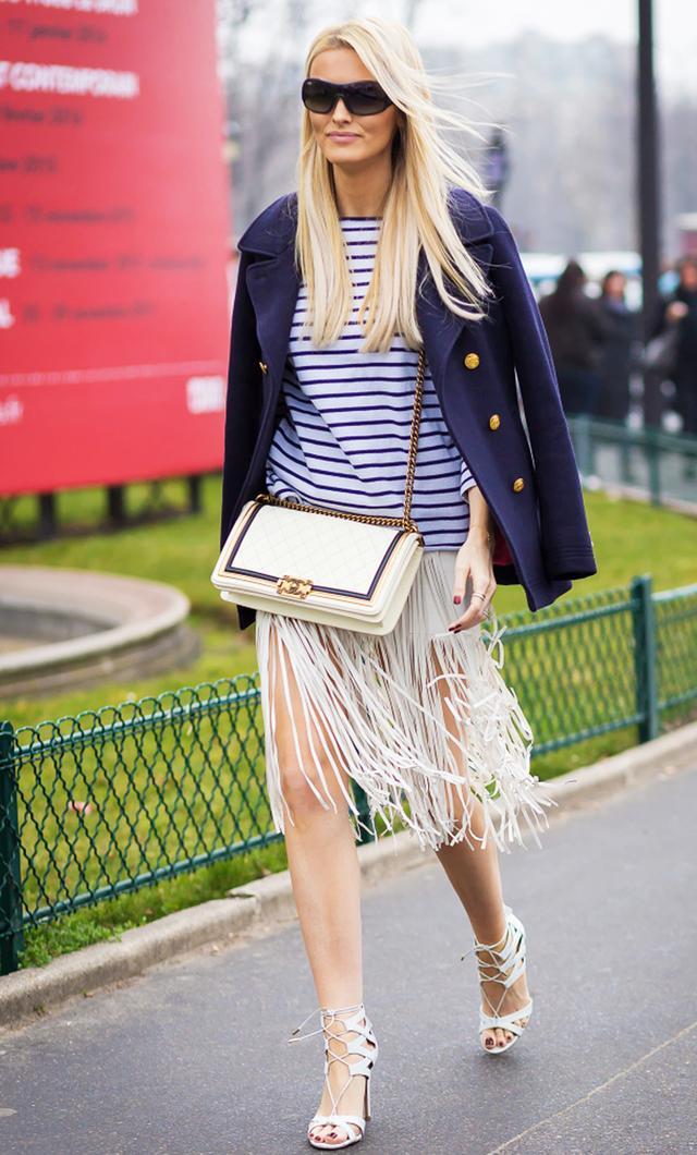 Long-sleeve striped shirt: