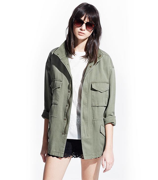 MANGO Military-Style Jacket