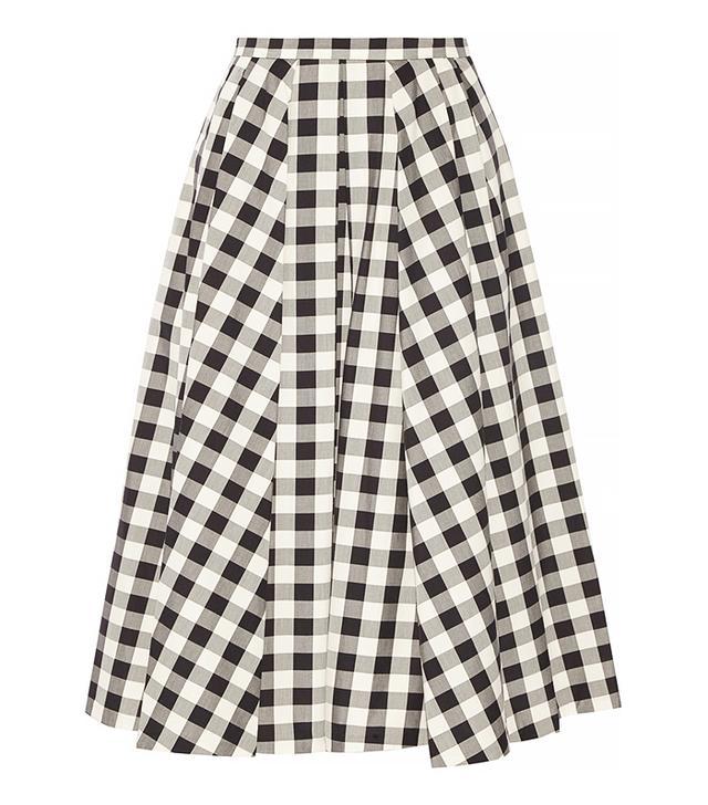 Michael Kors Gingham Cotton Midi Skirt