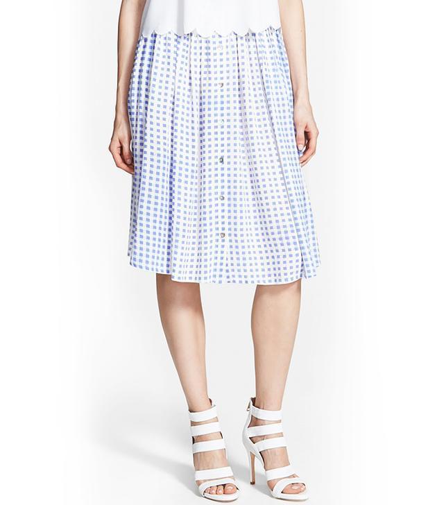Minkpink Gingham Midi Skirt
