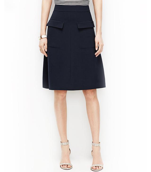 Ann Taylor Crepe Cargo Skirt