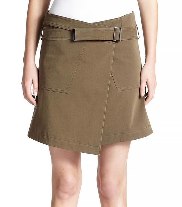 Belstaff Ryder Cotton Wrap Skirt