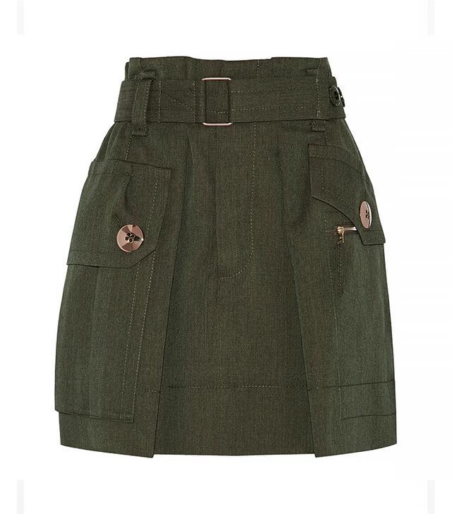 Marc Jacobs Wool-Twill Mini Skirt