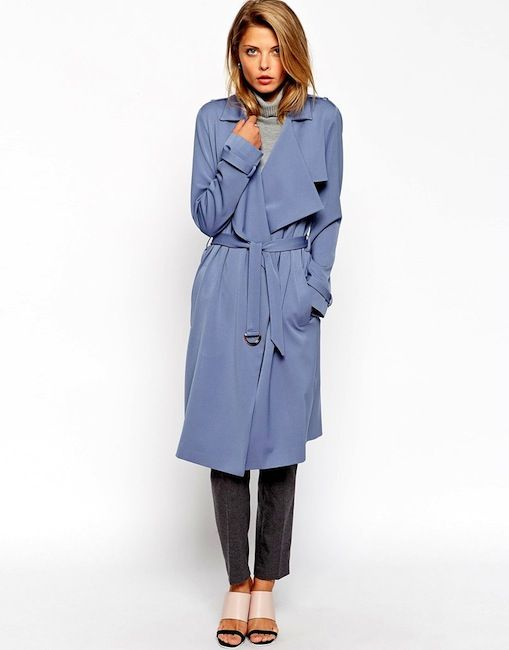 ASOS Trench With Waterfall Front And D Ring Detail