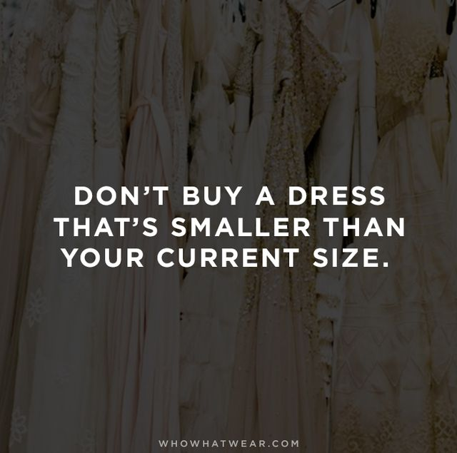 """Always order the size that you are today, that way you can always take in—it's very hard to take out."" –Miguel Noh, David's Bridal Dress..."