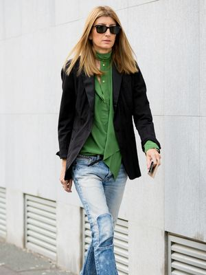 A Sleek Way to Style Your Patchwork Denim