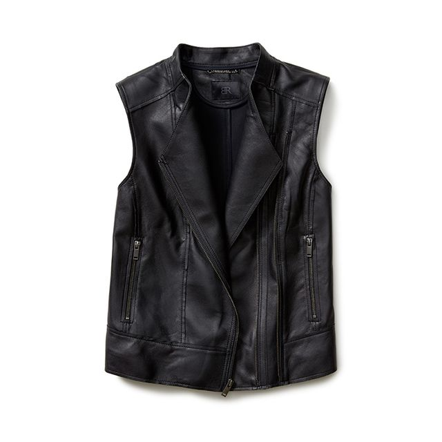 Banana Republic BR Monogram Leather Moto Vest