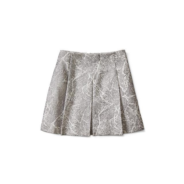 Banana Republic Gray Print Full Skirt