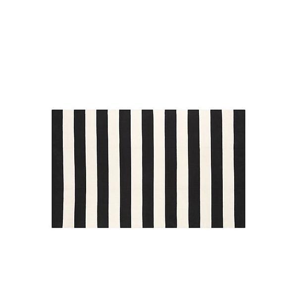 Crate & Barrel Olin Black Rug