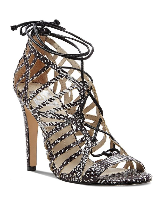 DV Dolce Vita Tessah Open Toe Caged Ghillie Lace Up Sandals