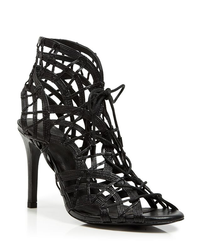 Joie Leah Open Toe Caged Ghillie Lace Up Sandals
