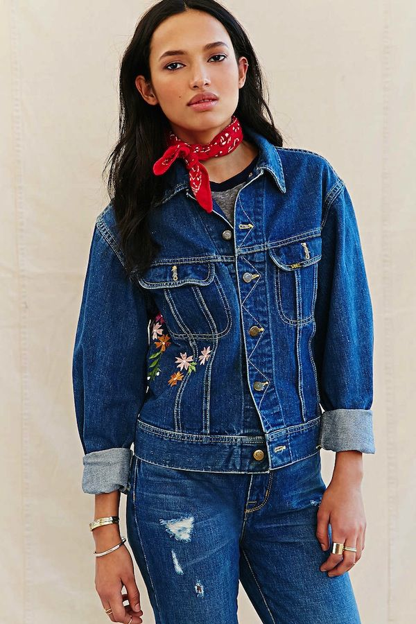Urban Renewal Recycled Embroidered Denim Jacket