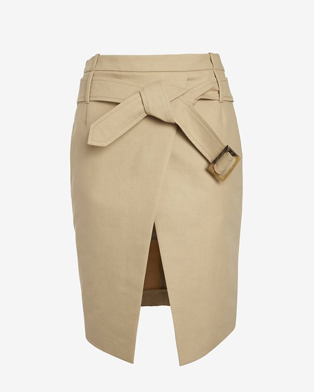 Barbara Bui Belted Asymmetric Mini Wrap Skirt