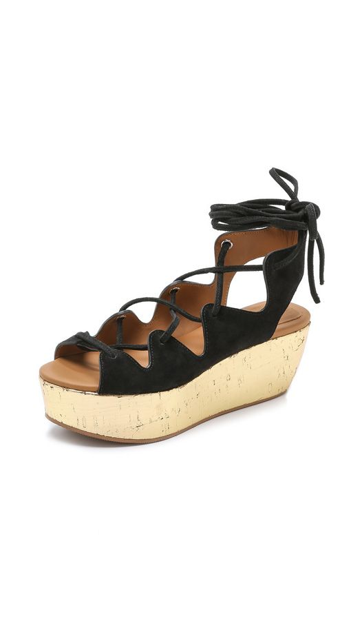 See by Chloé Lace Up Platform Wedges