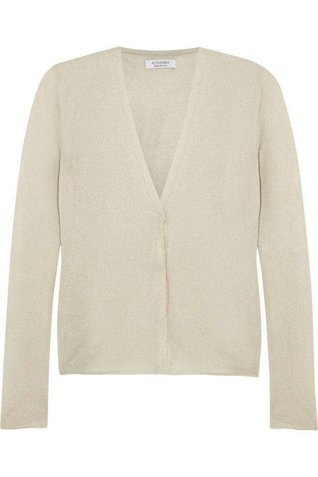 Altuzarra Jacopo Fine-Knit Cotton-Blend Cardigan